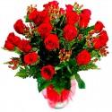 Florero de Rosas Rojas - 24 Rosas