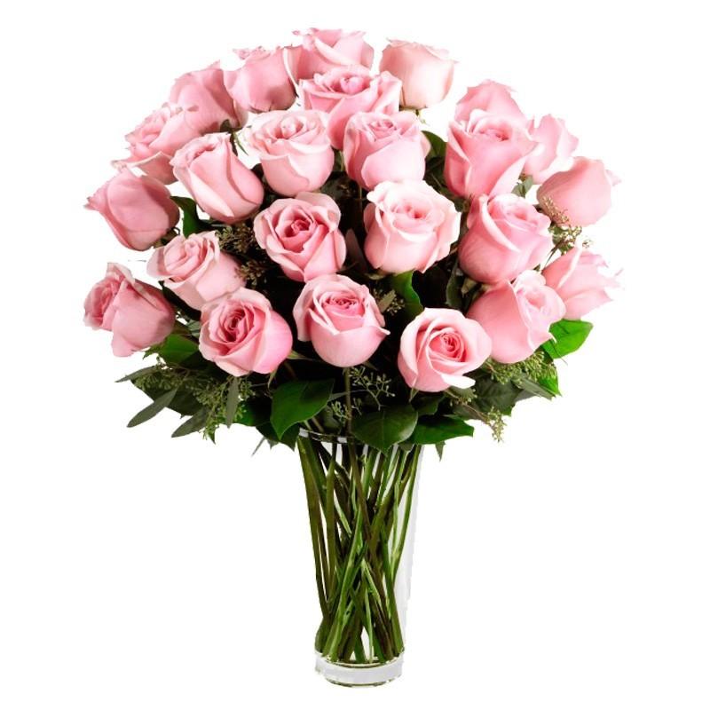 Florero de Rosas Rosadas - 24 rosas