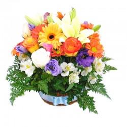Cesta Mediana de Flores Primaveral