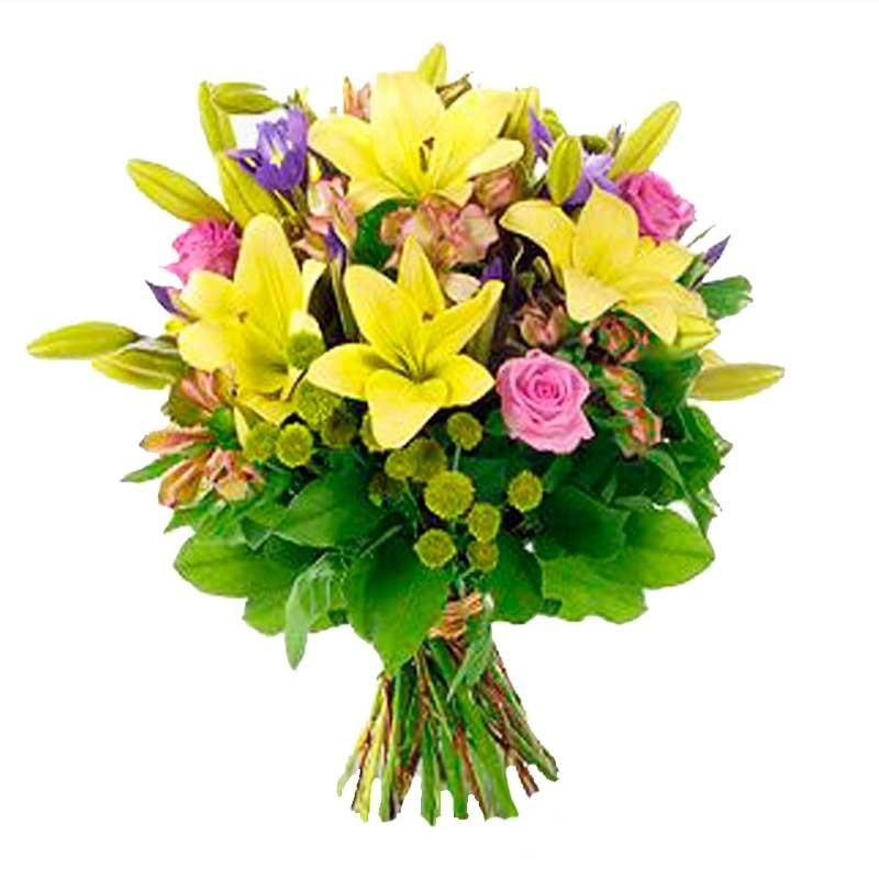 Ramos De Flores Lilium en Tonos Amarillos