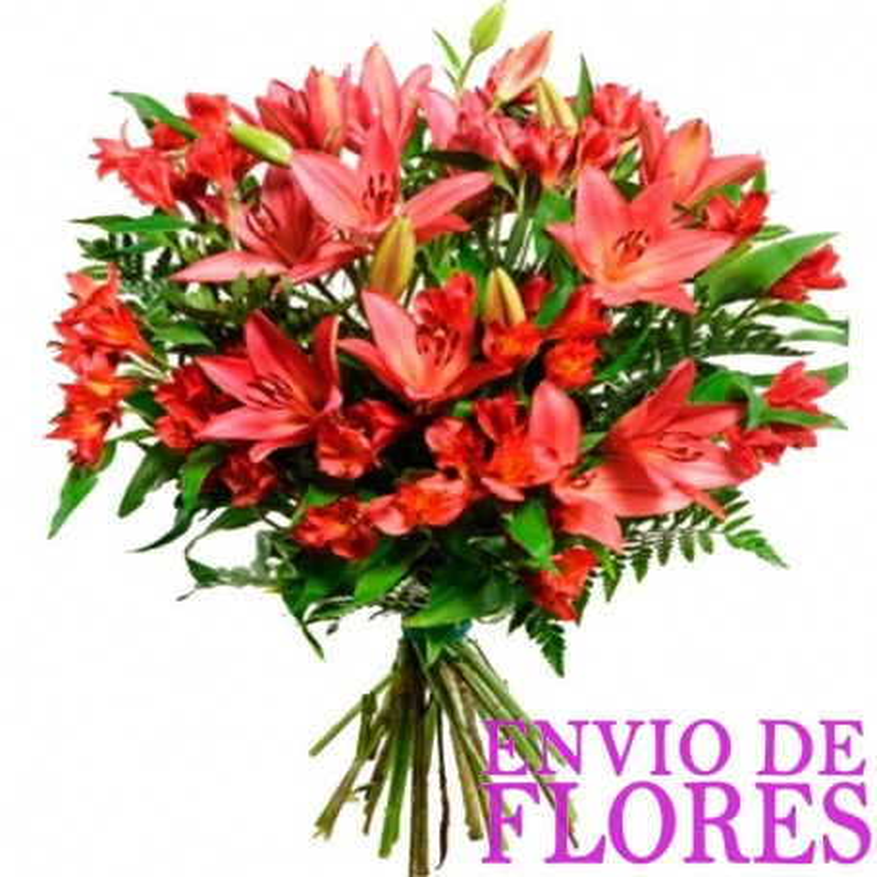 Ramos De Flores Lilium Rojos