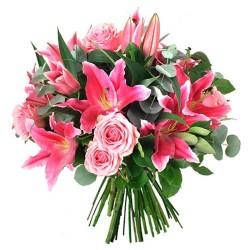 Ramo de Liliums Rosados más Flores Mix