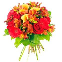 Ramo de Flores primaverales con Gerberas y Mini Calas