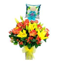 Nacimiento Flores en Florero Recien Nacido