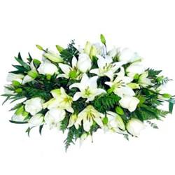 Cojin de Condolencias Rosas y Liliums