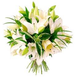Ramos de Flores para Condolencias - Liliums Blancos