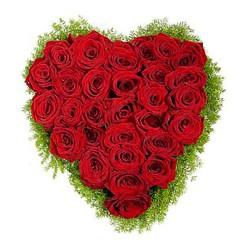 Cesta de Rosas Rojas Corazon
