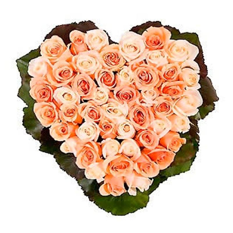 Cesta de Rosas Rosa Corazon