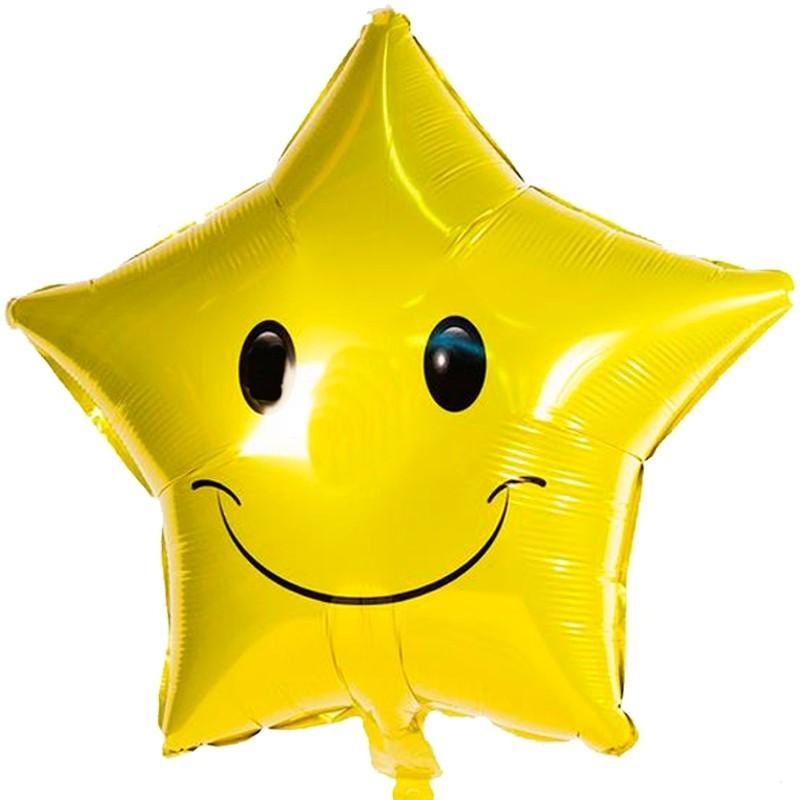 Globo Metalico Estrella Amarilla