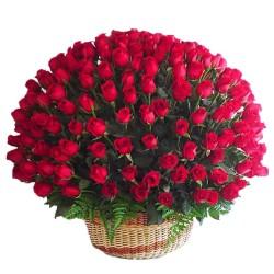 Cesta Gigante de 100 Rosas Rojas