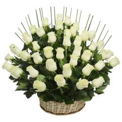 Cesta de 40 Rosas Blancas