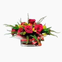 Florero Centro de Mesa Navideño
