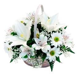 Cesta de Flores de Condolencias
