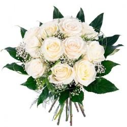 Ramo de Flores para Condolencias 12 Rosas Blancas