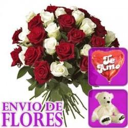 Ramo de 24 rosas + Peluche + Globo